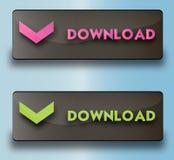 Botões da transferência do vetor Imagem de Stock