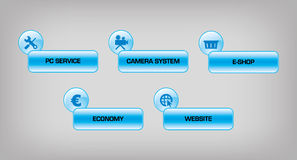 Botões da Web Imagens de Stock