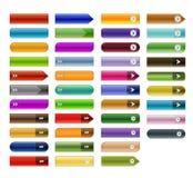 Botões 01 da Web Imagem de Stock