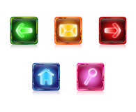 Botões da Web da cor ajustados Fotografia de Stock Royalty Free