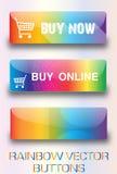 Botões da Web do arco-íris Imagens de Stock