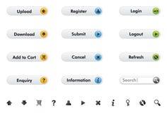 Botões da Web e elementos da Web Fotografia de Stock Royalty Free