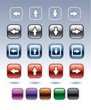 Botões das setas Fotografia de Stock