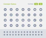 Botões de comando - ícones do granito ilustração stock