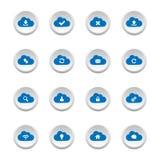 Botões de computação da nuvem Fotografia de Stock Royalty Free