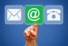 Botões de contato comercial Imagens de Stock Royalty Free
