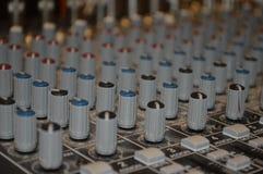 Botões de controle no soundboard Imagem de Stock Royalty Free