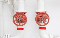 Botões de controle para as tubulações de água Imagens de Stock