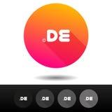 Botões de DE sinal do domínio 5 símbolos níveis mais alto do domínio do Internet do vetor dos ícones Foto de Stock Royalty Free