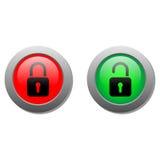 Botões de fechamento Fotografia de Stock Royalty Free