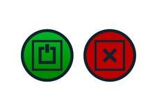 Botões de ligar/desligar ilustração royalty free