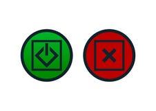 Botões de ligar/desligar ilustração stock