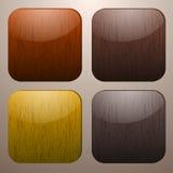 Botões de madeira Ilustração Stock