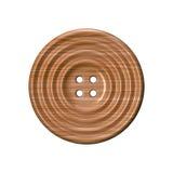 Botões de madeira da roupa da costura Fotos de Stock Royalty Free