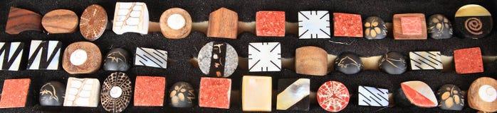 Botões de pedra preciosa Fotografia de Stock