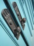 Botões de portas da igreja Fotografia de Stock Royalty Free