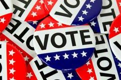 Botões de votação Fotografia de Stock