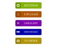 Botões diferentes da Web Imagens de Stock