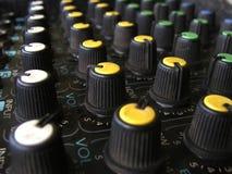 Botões do amplificador imagens de stock