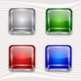 Botões do App ajustados ilustração stock