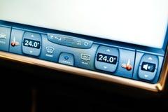 Botões do aquecimento do condicionador de ar e do Seat da C.A. de Tesla Imagens de Stock Royalty Free