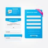 Botões do azul da Web Fotos de Stock