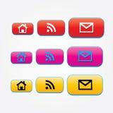 Botões do design web Fotos de Stock Royalty Free