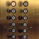 Botões do elevador imagens de stock