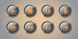 Botões do jogador Foto de Stock