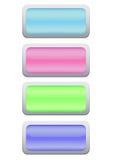 Botões do jogo Foto de Stock