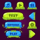 Botões do jogo com elementos da natureza Foto de Stock Royalty Free