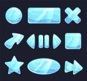 Botões do jogo do gelo ilustração royalty free