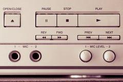 Botões do leitor de cd, retros Imagem de Stock