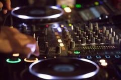 Botões do misturador sadio do DJ Fotografia de Stock