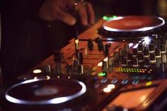Botões do misturador sadio do DJ Fotos de Stock