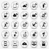 Botões do ponto quente do ícone de Smartphone Wi-Fi Fotografia de Stock