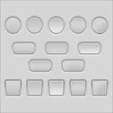Botões do vetor Imagem de Stock Royalty Free