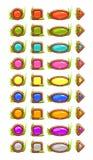 Botões do vetor dos desenhos animados ilustração royalty free