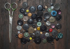 Botões do vintage Fotografia de Stock Royalty Free
