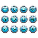 Botões do zodíaco Foto de Stock