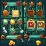 Botões dos ícones do GUI dos curandeiros da selva ajustados ilustração stock