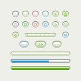 Botões dos multimédios Fotografia de Stock