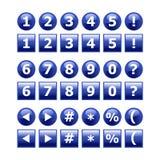 Botões dos números Fotos de Stock Royalty Free