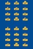 Botões dourados Foto de Stock
