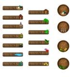 Botões e ícones para o Web site da natureza Fotografia de Stock Royalty Free