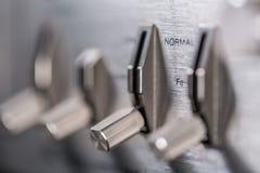 Botões e botões do gravador velho Imagem de Stock Royalty Free