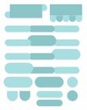 Botões e cartas verdes ovais para o infographics Fotografia de Stock Royalty Free