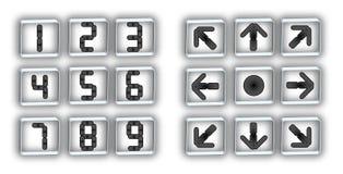Botões e setas do seletor Foto de Stock Royalty Free