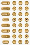 Botões elegantes da Web Fotografia de Stock Royalty Free