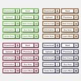 Botões lisos Imagem de Stock